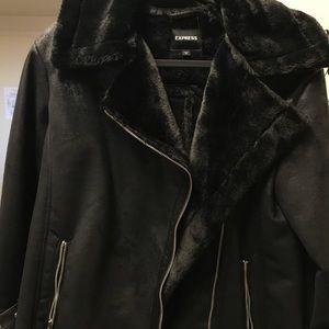 Faux fur aviator jacket